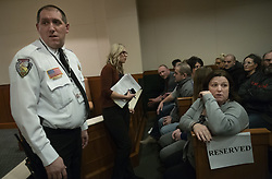 Sheriff Chris Fitzgerald appears next to Jayme Closs' aunt Kelly Engelhardt as Jake Pasterson made his first court appearance at the Barron County Circuit Court Monday, January 14, 2019 in Barron, WI, USA. Photo by Richard Tsong-Taatarii/Minneapolis Star Tribune/TNS/ABACAPRESS.COM