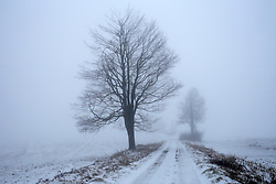 CZECH REPUBLIC VYSOCINA NEDVEZI JAN16 - Winter landscape near the village of Nedvezi, Vyoscina, Czech Republic.<br /> <br /> <br /> <br /> jre/Photo by Jiri Rezac<br /> <br /> <br /> <br /> © Jiri Rezac 2016