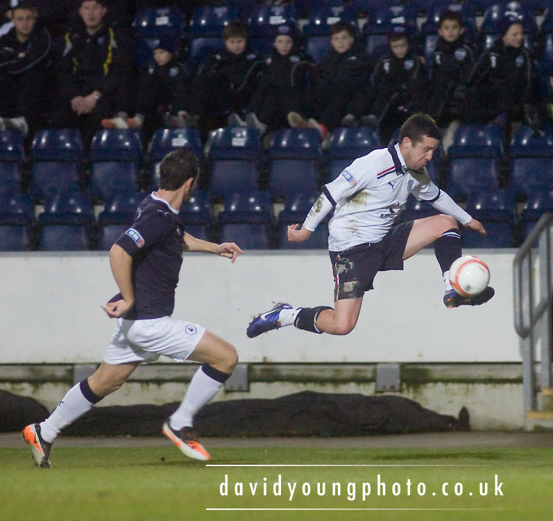 Dundee's Ryan Conroy flies down the wing - Falkirk v Dundee in the IRN BRU Scottish Football League First Division at The Falkirk Stadium..© David Young - .5 Foundry Place - .Monifieth - .Angus - .DD5 4BB - .Tel: 07765 252616 - .email: davidyoungphoto@gmail.com.web: www.davidyoungphoto.co.uk
