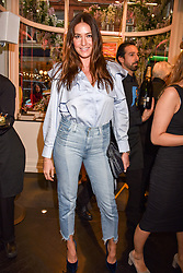 Lisa Snowdon at a private view of work by Bradley Theodore entitled 'The Second Coming' at the Maddox Gallery, 9 Maddox Street, London England. 19 April 2017.