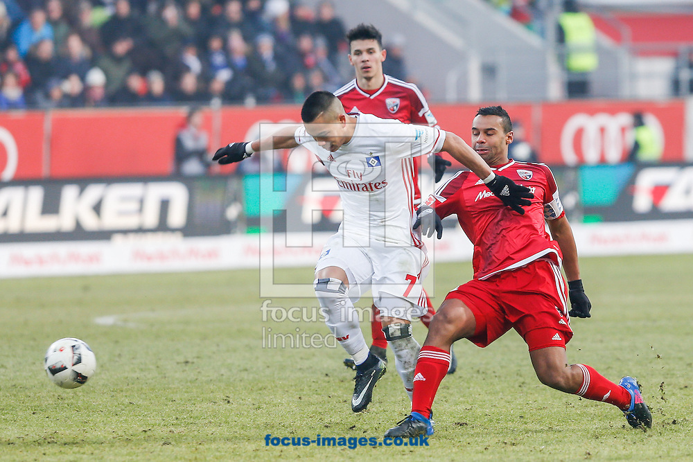 Marvin Matip of FC Ingolstadt 04 and Bobby Wood of Hamburger SV during the Bundesliga match at Audi Sportpark, Ingolstadt<br /> Picture by EXPA Pictures/Focus Images Ltd 07814482222<br /> 28/01/2017<br /> *** UK &amp; IRELAND ONLY ***<br /> <br /> EXPA-EIB-170128-1388.jpg