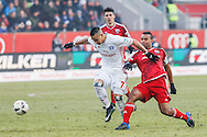Marvin Matip of FC Ingolstadt 04 and Bobby Wood of Hamburger SV during the Bundesliga match at Audi Sportpark, Ingolstadt<br /> Picture by EXPA Pictures/Focus Images Ltd 07814482222<br /> 28/01/2017<br /> *** UK & IRELAND ONLY ***<br /> <br /> EXPA-EIB-170128-1388.jpg