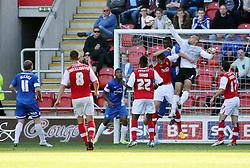 Peterborough United's Robert Olejnik makes a clearance - Photo mandatory by-line: Joe Dent/JMP - Tel: Mobile: 07966 386802 28/09/2013 - SPORT - FOOTBALL - New York Stadium - Rotherham - Rotherham United V Peterborough United - Sky Bet One