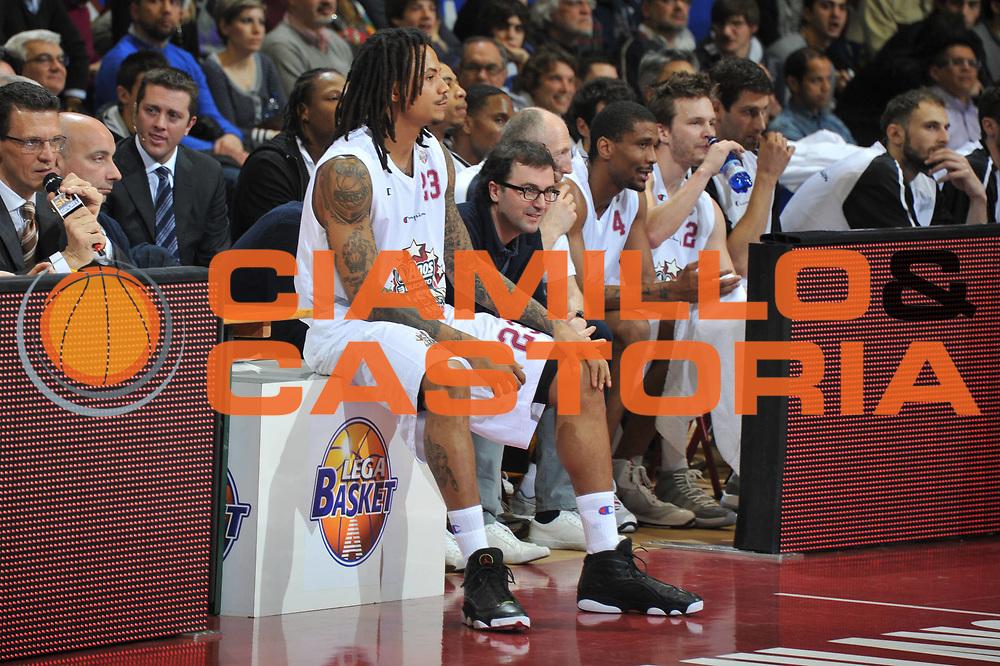 DESCRIZIONE : Milano Agos Ducato All Star Game 2011<br /> GIOCATORE : David Moss<br /> SQUADRA : Italia Nazionale Maschile All Star Team<br /> EVENTO : All Star Game 2011<br /> GARA : Italia All Star Team<br /> DATA : 13/03/2011<br /> CATEGORIA : Cambio<br /> SPORT : Pallacanestro<br /> AUTORE : Agenzia Ciamillo-Castoria/M.Gregolin<br /> Galleria : FIP Nazionali 2011<br /> Fotonotizia :  Milano Agos Ducato All Star Game 2011<br /> Predefinita :