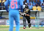 Black Caps Tom Latham bats during the Fifth ODI of the 2019 ANZ International ODI Series. Blackcaps v India at Westpac Stadium, Wellington, Sunday 3rd February 2019. © Copyright Photo: Grant Down / www.photosport.nz