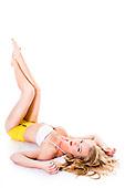 2015 Yellow and White Bikini - Jessica Briguglio