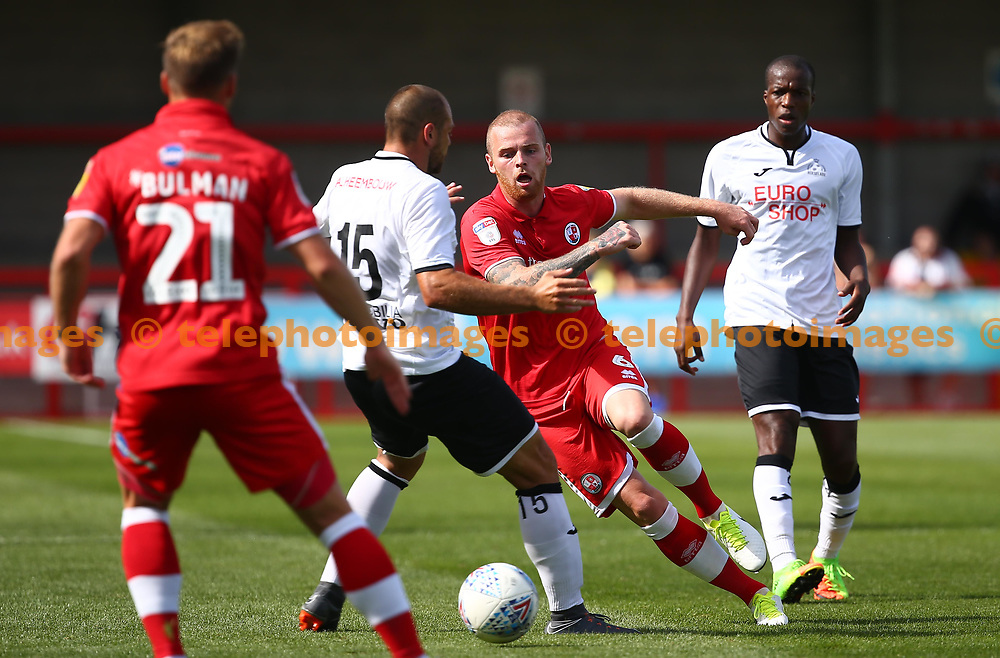 Crawley's Mark Connolly during the pre season friendly between Crawley Town and KSV Roeselare at The Broadfield Stadium, Crawley , UK. 28 July 2018.