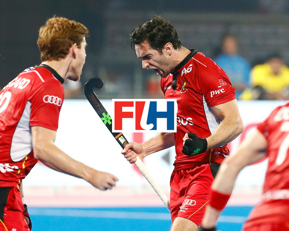 Odisha Men's Hockey World League Final Bhubaneswar 2017<br /> Match id:13<br /> Belgium v India<br /> Foto: Loick Luypaert (Bel) scored 2-3<br /> COPYRIGHT WORLDSPORTPICS KOEN SUYK