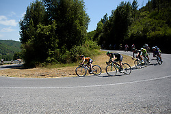 Karol-Ann Canuel & Dani King descend the uncategorised climb on Stage 8 of the Giro Rosa - a 141.8 km road race, between Baronissi and Centola fraz. Palinuro on July 7, 2017, in Salerno, Italy. (Photo by Sean Robinson/Velofocus.com)