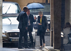 © Licensed to London News Pictures. 13/06/2019. London, UK. Prime Minister Theresa May arrives at Parliament to cast her vote in the Conservative Party leadership ballot. Boris Johnson received most votes with Mark Harper, Andrea Leadsom and Esther McVey all not receiving enough votes to carry on to the second round next week. Photo credit: Peter Macdiarmid/LNP