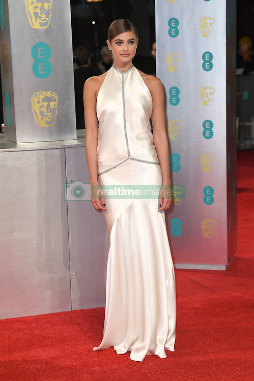Taylor Hill attending the EE British Academy Film Awards held at the Royal Albert Hall, Kensington Gore, Kensington, London. Picture date: Sunday February 12, 2017. Photo credit should read: Doug Peters/ EMPICS Entertainment