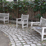Row of benches, Paris