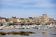 Picturesque fishing port of Barfleur in Normandy, France
