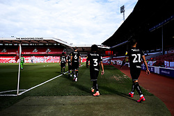 Bristol City walk out onto the pitch at The City Ground to face Nottingham Forest - Mandatory by-line: Robbie Stephenson/JMP - 01/07/2020 - FOOTBALL - The City Ground - Nottingham, England - Nottingham Forest v Bristol City - Sky Bet Championship