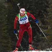 Winter Olympics, Vancouver, 2010. Liv Kjersti Eikeland, Norway, in action during the Women's 7.5 KM Sprint Biathlon at The Whistler Olympic Park, Whistler, during the Vancouver  Winter Olympics. 13th February 2010. Photo Tim Clayton