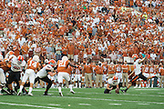 AUSTIN, TX - SEPTEMBER 26:  Ben Grogan #19 of the Oklahoma State Cowboys kicks the game winning 40 yard field goal against the Texas Longhorns during the 4th quarter on September 26, 2015 at Darrell K Royal-Texas Memorial Stadium in Austin, Texas.  (Photo by Cooper Neill/Getty Images) *** Local Caption *** Ben Grogan