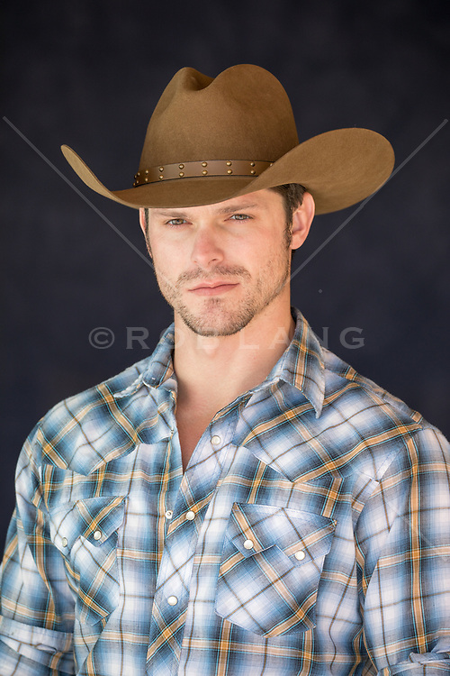 portrait of a handsome cowboy