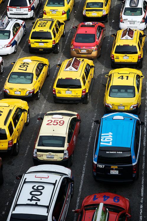 The Taxi Waiting Area at SFO