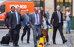 © Licensed to London News Pictures. 08/08/2018. Bristol, UK. England cricketer BEN STOKES (right) and his wife CLARE RATCLIFFE arrive at  Bristol Crown court today for the third day of his trial on charges of affray that relate to a fight outside a Bristol nightclub on September 25 2017. Stokes and two other men, Ryan Ali, 28, and Ryan Hale, 27, all deny the charge. Stokes, Ali and Hale are jointly charged with affray in the Clifton Triangle area of Bristol on September 25 last year, several hours after England had played a one-day international against the West Indies in the city. A 27-year-old man allegedly suffered a fractured eye socket in the incident. Photo credit: Simon Chapman/LNP