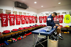 General View inside the Bristol City dressing room as kitman Scotty Murray waits for the boys to arrive - Rogan/JMP - 23/12/2017 - Loftus Road - London, England - Queens Park Rangers v Bristol City - Sky Bet Championship.