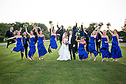 Jumping Wedding Party