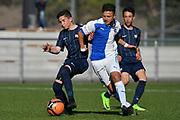 08.04.17; Zuerich; Fussball FCZ Academy - Grasshopper Club - Zuerich FE14 Oberland; <br /> Lanciano Davide (Zuerich), Spina Luca (GC) <br /> (Andy Mueller/freshfocus)