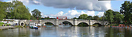 Richmond Bridge and red bus double decker Stitched Panorama