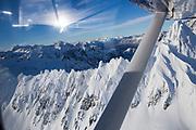Flera företag erbjuder turistflygningar över bergen på Kenaihalvön, Alaska<br /> Copyright Christina Sjögren<br /> ALL RIGHTS RESERVED