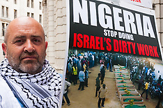 2014-07-28 Palestinian supporters protest Nigerian Al-Quds Day killings