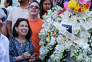 People gather at the Hollywood Walk of Fame star of Mexican superstar Juan Gabriel, in Los Angeles on Monday, Aug. 29, 2016. Gabriel a songwriter and singer who died on Sunday at his home in Los Angeles at age 66.<br /> (Photo by Ringo Chiu/PHOTOFORMULA.com)<br /> <br /> Usage Notes: This content is intended for editorial use only. For other uses, additional clearances may be required.