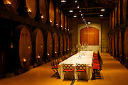 Dining room at Merryvale Vineyards in Napa Valley, California.