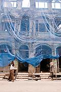 Colonial building being demolished. Yangon, Myanmar