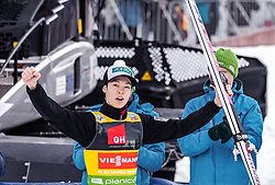 22.03.2019, Planica, Ratece, SLO, FIS Weltcup Ski Sprung, Skiflug, Einzelbewerb, Wertungssprung, Finale, Siegerehrung, im Bild 2. Platz Ryoyu Kobayashi (JPN) // 2nd placed Ryoyu Kobayashi of Japan during the winner ceremony for the Ski Flying Hill individual competition of the FIS Ski Jumping World Cup Final 2019. Planica in Ratece, Slovenia on 2019/03/22. EXPA Pictures © 2019, PhotoCredit: EXPA/ JFK