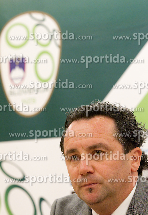 Slavisa Stojanovic, a new head coach of Slovenian National football Team during press conference of Football federation of Slovenia, on October 24, 2011, in Brdo pri Kranju, Slovenia.  (Photo by Vid Ponikvar / Sportida)