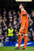 Chelsea (13) Thibaut Courtois during the Premier League match between Chelsea and West Ham United at Stamford Bridge, London, England on 8 April 2018. Picture by Sebastian Frej.