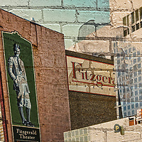 Art photo of Fitzgerald Theater in St Paul Minnesota.