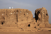 The Western Deffufa, once the centre of the city of Kerma, pictured on Friday, March 23, 2007. Kerma was the seat of the first independent kingdom of Kush and the Western Deffufa dates from the earliest Kushite period putting it at over 3,500 years old. Deffufa is a Nubian term meaning mud-brick building and the Western Deffufa is the largest and possibly oldest structure in sub-Saharan Africa...The ancient kingdom of Kush emerged around 2000 BC in the land of Nubia, what is today northern Sudan. At their height the Nubians ruled over ancient Egypt as the 25th Dynasty between 720 BC and 664 BC (known as the Black Pharaohs) and saw their borders reach to edges of Libya and Palestine. The Kushite kings saw themselves as guardians of Egyptian religion and tradition. They centered there kindgom on the Temple of Amun at Napata (modern day Jebel Barkal) and brought back the building of Pyramids in which to inter their kings - there are around 220 pyramids in Sudan, twice the number in Egypt. After Napata was sacked, by a resurgent Egypt, the capital was moved to Meroe where a more indigenous culture developed, Egyptian hieroglyphics made way for a cursive Meroitic script, yet to be deciphered. The Meroitic kingdom eventually fell into decline in the 3rd century AD with the arrival of Christianity.