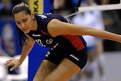 14-12-2006 VOLLEYBAL: DELA MARTINUS - VINO MONTESCHIAVO JESI: AMSTELVEEN<br /> Martinus verloor in vier sets, maar is nog steeds kansrijk om de eerste ronde van deze Europese topcompetitie te overleven (22-25, 17-25, 25-22, 22-25) / Jacqueline Pereira de Carvalho<br /> ©2006: FOTOGRAFIE RONALD HOOGENDOORN