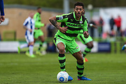 Forest Green Rovers Kaiyne Woolery(14) runs forward during the Vanarama National League match between Forest Green Rovers and Chester FC at the New Lawn, Forest Green, United Kingdom on 14 April 2017. Photo by Shane Healey.