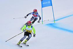 FRANTSEV Ivan Guide: PEREVOZCHIKOV Denis, B2, NPA at 2018 World Para Alpine Skiing Cup, Kranjska Gora, Slovenia