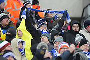 Rochdale supporters during the The FA Cup match between Tottenham Hotspur and Rochdale at Wembley Stadium, London, England on 28 February 2018. Picture by Daniel Youngs.