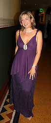 TV presenter PENNY SMITH at the Russian Rhapsody Gala dinner concert held at The Royal Albert Hall, London on 11th April 2005.  <br />