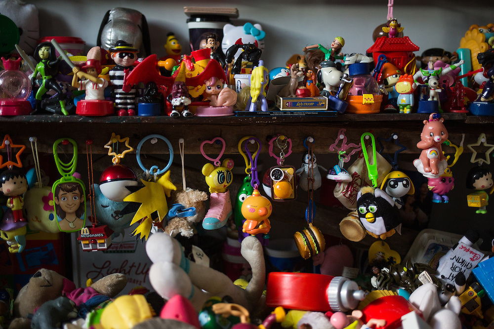 Part of Percival Reyes Lugue's record-holding collection of fast food toys.