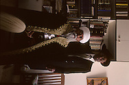 The Ethiopian Jews; The kess Rafael Adana et his Sohn Youssef ,  Sephardic rabbi    Israel     /// les juifs ethiopiens; le kess Riphail Adana et son fils Youssef , rabin sepharade    Israel chez le pere a bet shemesh, le rabbinat n'a jamais voulu reconaitre les grands pretres israelites ethiopiens  /// R00287/    L004427  /  P0007216