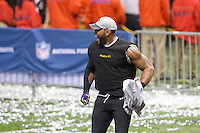 3 February 2013: Linebacker (52) Ray Lewis of the Baltimore Ravens celebrates after defeating the San Francisco 49ers in Superbowl XLVII at the Mercedes-Benz Superdome in New Orleans, LA.
