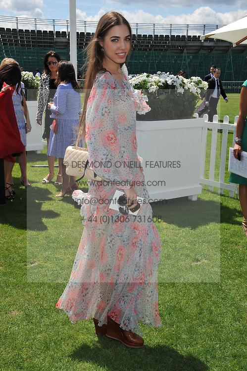 AMBER LE BON at the 27th annual Cartier International Polo Day featuring the 100th Coronation Cup between England and Brazil held at Guards Polo Club, Windsor Great Park, Berkshire on 24th July 2011.