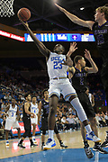 Nov 15, 2017; Los Angeles, CA, USA; UCLA Bruins guard Prince Ali (23) shoots the ball against the Central Arkansas Bears during a NCAA basketball at Pauley Pavilion. UCLA defeated Central Arkansas 106-101 in overtime.