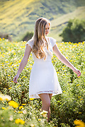 Young Adult Blonde Girl in the Fields of Northwest Open Space in San Juan Capistrano