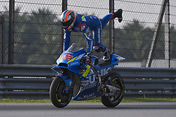 February 7, 2019 - Sepang, Malaysia - Team Suzuki ECSTAR's rider Alex Rins of Spain in action during the second day of the 2019 MotoGP pre-season testing at Sepang International Circuit February 7, 2019. (Credit Image: © Zahim Mohd/NurPhoto via ZUMA Press)
