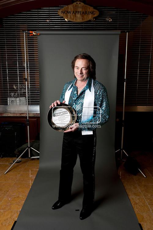 February 20th, 2012, Las Vegas, Nevada. The 21st Annual Reel Awards in Las Vegas where celebrity lookalikes show off their talents. Pictured is Jason Scott as Neil Diamond..PHOTO © JOHN CHAPPLE / www.johnchapple.com.